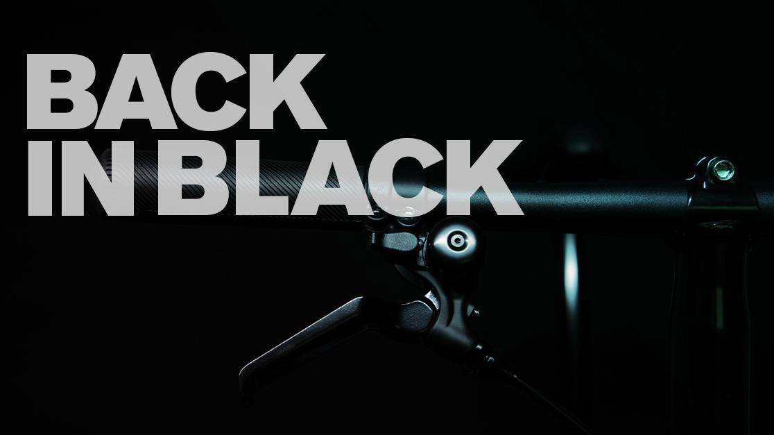 Black edition Brompton folding bike